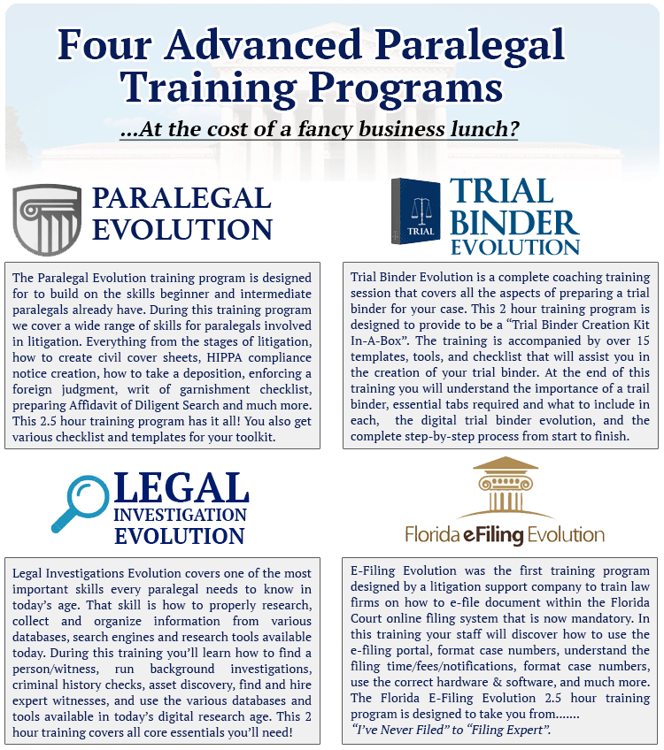 What does the Ultimate Paralegal Training Bundle Include?